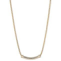 Anne Klein - Gold bar necklace