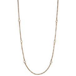 Anne Klein - Long gold bar necklace