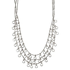 Anne Klein - Silver and crystal necklace
