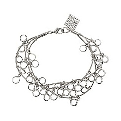 Anne Klein - Silver and crystal bracelet