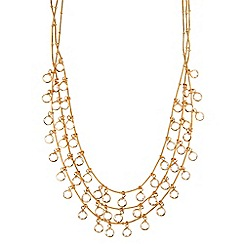 Anne Klein - Gold and crystal necklace