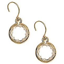 Anne Klein - Gold crystal drop earrings