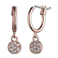 Anne Klein - Rose gold hoop earrings