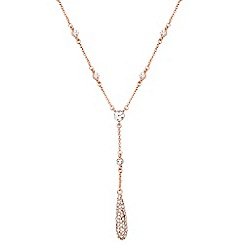 Anne Klein - Rose gold drop necklace