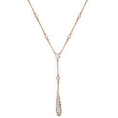Anne Klein - Rose gold drop necklace