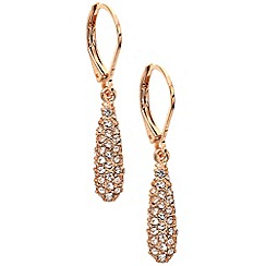 Anne Klein - Rose gold acorn drop earrings