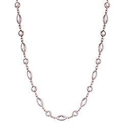 Anne Klein - Rose gold short necklace