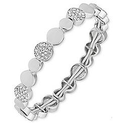 Anne Klein - Silver crystal bracelet