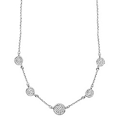 Anne Klein - Silver pave necklace