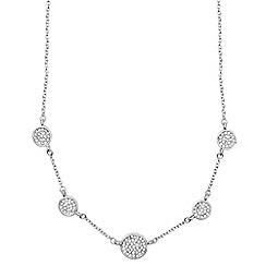 Anne Klein - Silver pave necklace