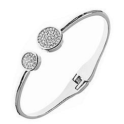 Anne Klein - Silver pave bracelet