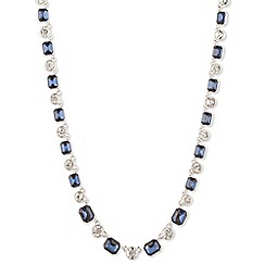 Anne Klein - Silver and blue stone necklace