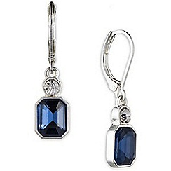 Anne Klein - Silver and blue drop earrings