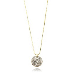 Pilgrim - Gold plated circle diamante necklace