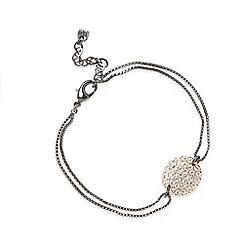 Pilgrim - Black chain stud plate bracelet