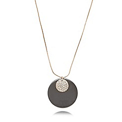 Pilgrim - Gold plated double disc necklace