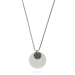 Pilgrim - Silver plated chain double disc necklace