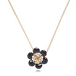 Pilgrim - Rose gold plated flower necklace
