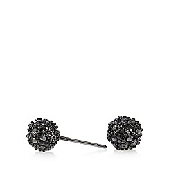 Pilgrim - Dark grey stone embellished stud earrings
