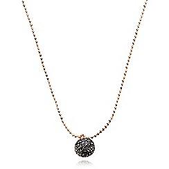 Pilgrim - Black crystal pendant