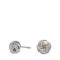 Pilgrim - Silver plated knot stud earrings