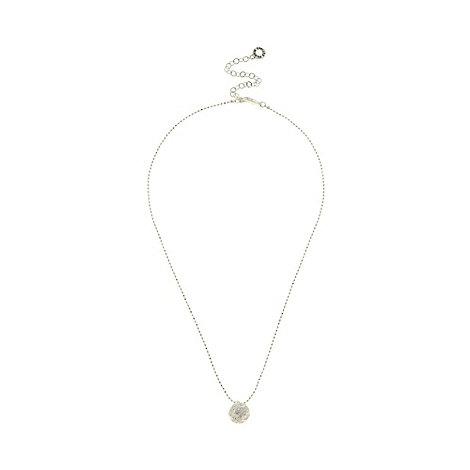 Pilgrim - Silver plated fireball pendant necklace