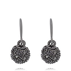 Pilgrim - Black ball drop earrings