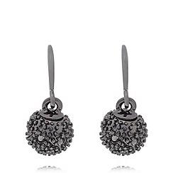 Pilgrim - Black ball drop earrings