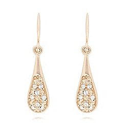 Pilgrim - Gold crystal teardrop earrings