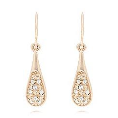 Pilgrim - Gold crystal teardrop earrings