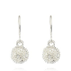 Pilgrim - Silver plated fireball drop earrings