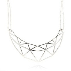 Pilgrim - Silver plated cutout necklace