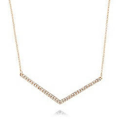 Pilgrim - Rose gold chain plated mini arrow necklace