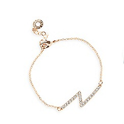 Pilgrim - Rose gold plated lightening bolt plate bracelet