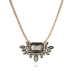 Pilgrim - Grey crystal statement necklace