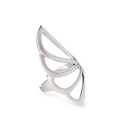 Pilgrim - Silver plated cutout ring