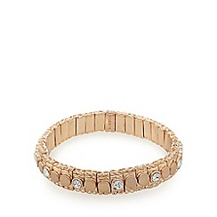 Pilgrim - Rose gold plated stone stretch bracelet