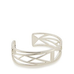 Pilgrim - Silver plated cutout cuff bangle