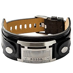 Fossil - Gents large black id cuff