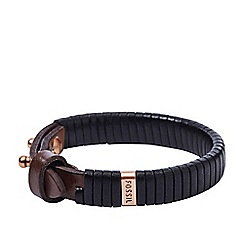 Fossil - Gents brown vintage casual bracelet