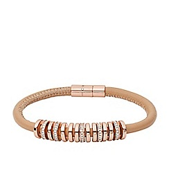 Fossil - Ladies polished rose gold tone/nude bracelet