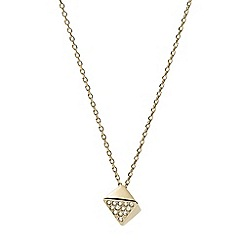 Fossil - Ladies polished gold necklace