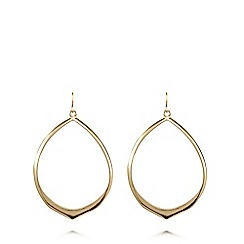 Fiorelli - Gold plated matte hoop earrings