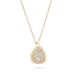 Fiorelli - Gold plated crystal teardrop necklace