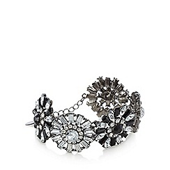 Fiorelli - Monochrome crystal flower bracelet