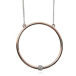 Fiorelli - Rose gold plated round crystal necklace