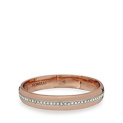 Fiorelli - Rose gold plated crystal bangle