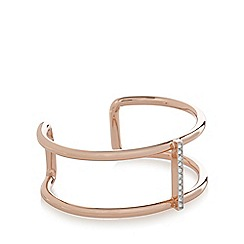 Fiorelli - Rose gold plated bar crystal bangle