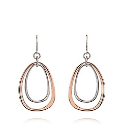 Fiorelli - Rose gold plated egg earrings