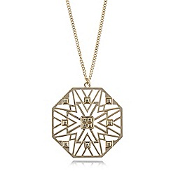 Fiorelli - Gold plated cut out necklace